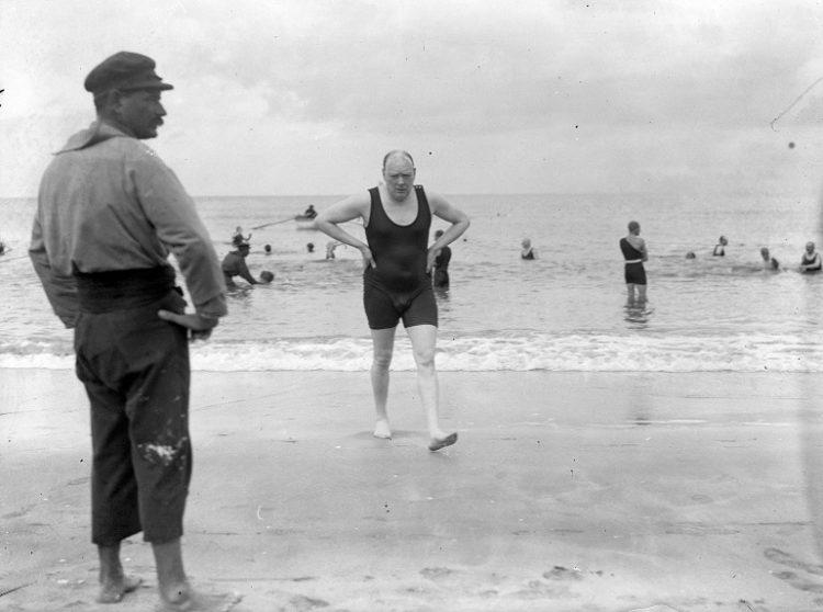 Churchill at the beach