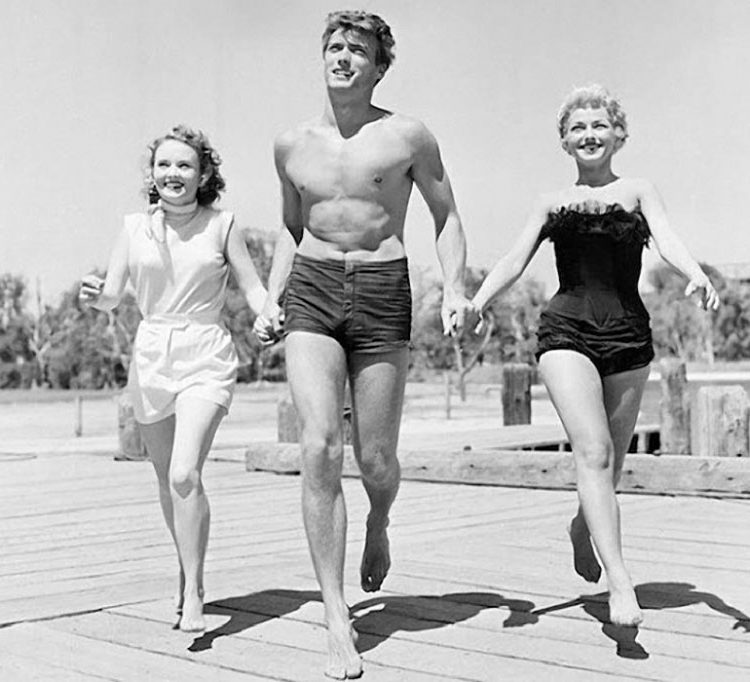 Clint Eastwood at the beach