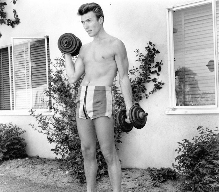 Clint Eastwood work out