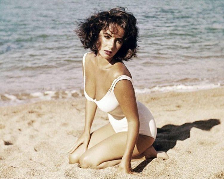 elizabeth taylor at the beach