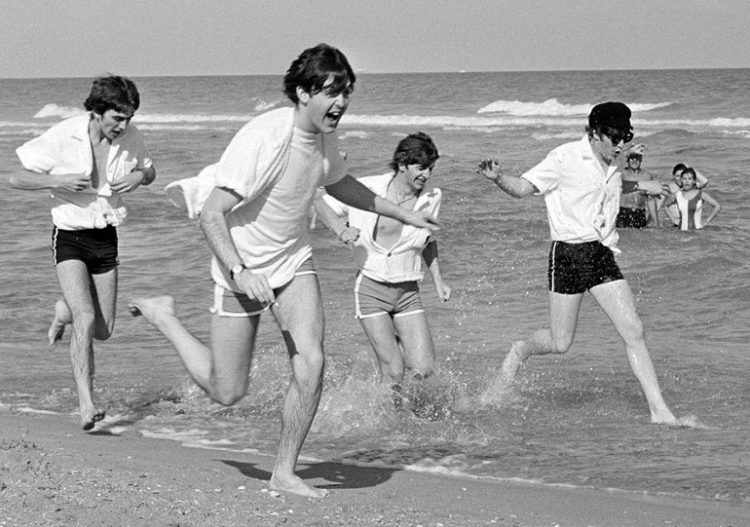 The beatles at the beach